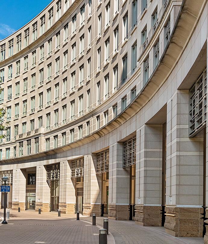 Unique building exterior